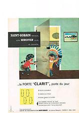 PUBLICITE ADVERTISING  1960   SAINT- GOBAIN     miroitier  la porte CLARIT