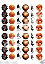 Basketball Fairy cup cake decoration toppers x 48 on ICING