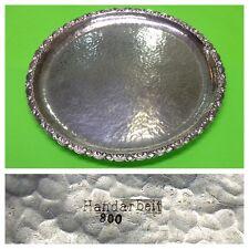 Silberteller 800er Silber Handarbeit Gebäckschale Silberschale Obstschale Schale
