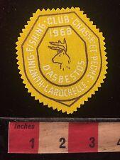 Vtg 1968 Rod & Gun Patch Canada Club Chasse et Pêche LaRochelle d'Asbestos 60B