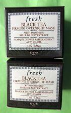 2 fresh Black Tea Firming Overnight Mask Travel Size NIB 2 .5 Oz. 1 Oz. Total