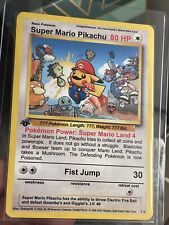 Super Mario Pikachu Custom Artwork Pokemon Card Secret Rare No. 1