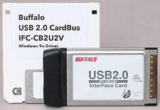 Buffalo 2x USB 2.0 CardBus Interface Card + Driver Disk IFC-CB2U2V