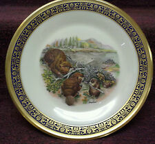 1977 Lenox Woodland Wildlife Beavers Plate Boehm Design
