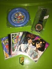 Magic Knight Rayearth Vintage 90s Anime Stuff Lot - Idol Cards Watch Pin Ashtray