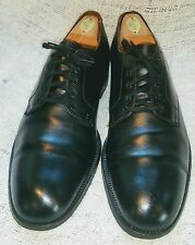 BROOKS BROTHERS Made in ENGLAND Black Leather Oxford Shoes Size EUR 42 C/US 8.5C