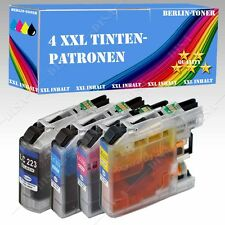 4x Tinte kompatibel mit Brother MFC-J 5720 DW / MFC-J 680 DW LC223 mit Chip >42