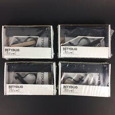 LOT OF 4 Betydlig Wall/Ceiling Curtain Rod Brackets BLACK - IKEA 602.172.28