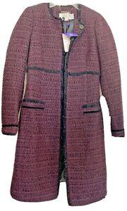 Séraphine's London LUXE Marina Maternity Coat Maroon sz 2 Duchess Kate Middleton