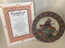 Villeroy Boch Russian Fairy Tale Plate + Cert & Box Ivan & Tsarevna On Grey Wolf
