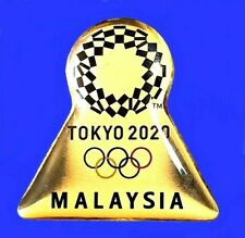 New ListingOfficial Malaysia Noc Tokyo 2020 2021 Olympic Games Pin Japan Media Silver