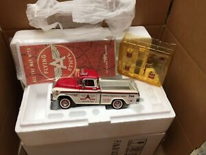 FRANKLIN MINT DIE-CAST 1:24 1955 CHEVROLET FLYING A PICK UP TRUCK MINT N BOX