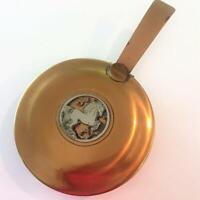Bronze Silver Crest Art Deco Vtg Silent Butler Ash Crumb Catcher Horse Decor Exc