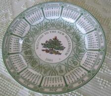 """Spode 2001 Christmas Tree 10.5""""  Calendar Plate Made in England"""