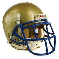 Riddell Small Medium Football Helmet Gold Blue 16