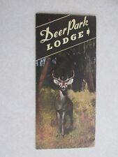 sba56 Deer Park Lodge Manitowish Wisconsin Travel Brochure literature flier