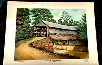 Vintage J L Wimsatt  Artist Proof Print Titled Sharpsville Signed