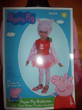 PEPA PIG TODDLERS COSTUME (NEW) 2T SIZE