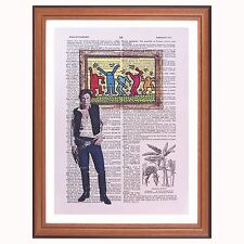 Han Solo vs Keith Haring - dictionary page art print Star Wars collector