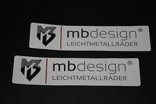 MB Design Felgen Rims Aufkleber Sticker Decal Bapperl Logo Schrifzug Autocollant