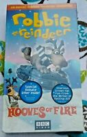 VHS - Robbie the Reindeer -  Hooves of Fire - Christmas Movie SEALED BBC America