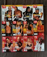 Lot of WWF Wrestling Wrestlers TV Guide 1998 - 1999 Stone Cold, Macho Man & more