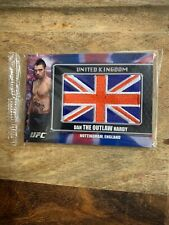 2011 Topps UFC Title Shot Flag Patch DAN HARDY England