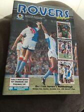 Blackburn Rovers V Middlesbrough 1989 Soccer/football Programme
