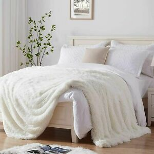 Soft Faux Fur Throw Blanket Luxury Shaggy Plush Cover Sofa Bed