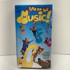 Turn On The Music 1989 VHS Sing Along Songs Dance Factory Sealed Hi Tops Video
