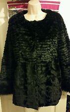 Stella Morgan Luxe  Black Classic Faux Fur Coat Size 8
