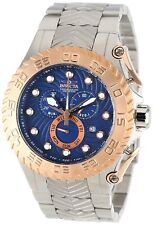 New Mens Invicta 12939 Pro Diver Chronograph Blue Textured Dial Casual Watch