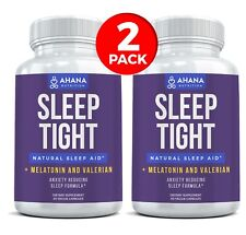 Over The Counter Sleeping Pills With Melatonin - Sleep Aid Capsules (2 BOTTLES)