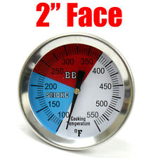 "2"" Temperature Gauge Thermometer for Barbecue Bbq Grill Smoker Pit Thermostat"