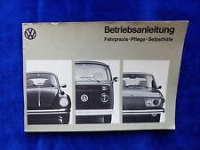 VW Käfer Bus Typ 1/2/4 - Betriebsanleitung Teil 2 / operation manual 08.1973