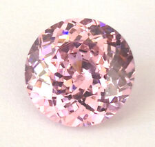 Top 9 mm 5.5 cts Double Round Brilliant Russian Light Pink CZ AAAAA
