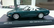 1:43 Diecast Chevrolet Corvette ZR Cario Detail Art No 214. On Plinth Case Boxed