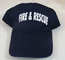 Fire and Rescue Baseball Fireman Police EMT Blue Snapback Adjustable Cap Hat