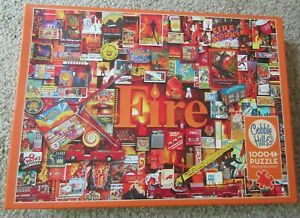 The Elements Collection FIRE 1000pc Jigsaw Puzzle By Cobble Hill 80173 Pre-Owned