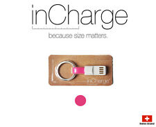 inCharge Smallest Cable Charging Connector Micro USB / Lightning With Keyring