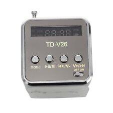 Mini Enceinte Haut Parleur Stereo Argent Disque USB SD TF Carte Pour MP3 MP Q6B7