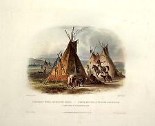 Native American Indian Chief Lodge Portrait Photo Art Print Picture