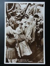 Royal Coronation THE QUEEN ARRIVING AT WESTMINSTER ABBEY 1953 RP Valentine C18