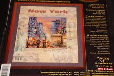 New York skyline street scene  elegant Counted cross stitch kit NIP