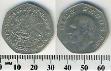 Mexico 1976 - 10 Pesos Copper-Nickel Coin - Miguel Hidalgo y Costilla - ERROR