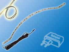 SET 1m LED Streifen mit Zuleitung+Netzteil   Warm Weiß   3000K   120 LED/m   8mm