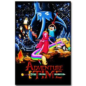 Adventure Time with Finn and Jake Art Silk Poster 12x18 24x36 inch Star Wars