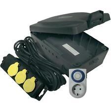 Masterplug Steckdose Zeitschaltuhr IP54 Wasserdicht Kabelbox für Aussenbereich