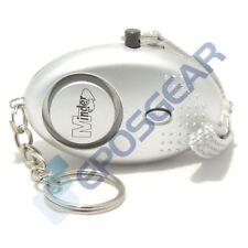 Silver 140db Minder Personal Panic Rape Attack Safety Keyring Alarm Torch
