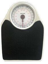 Salter Doctor Style Mechanical Bathroom Scales Accurate Weighing Retro White